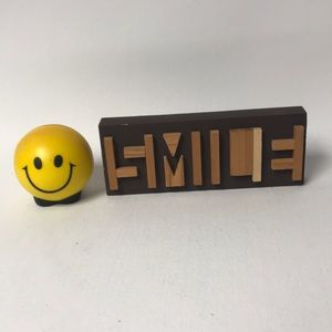 Other - Smile Face Wooden Block